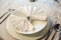 obiadowy elegancki ślub Obrazy Royalty Free