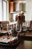 obiadowy elegancki stołowy tableware Fotografia Royalty Free