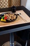 obiadowy japoński miejsce przygotowywający położenia stół Zdjęcia Royalty Free