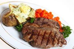 obiadowy kość stek t Zdjęcie Stock