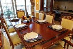 obiadowy położenie stół obraz stock