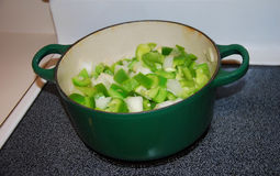 Obiadowy przygotowanie dla potrawki Obraz Stock