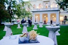 Obiadowy przyjęcie w pałac zdjęcia royalty free