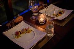 obiadowy rybiego jedzenia francuza stół Obraz Royalty Free