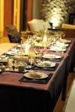 Obiadowy stół w Phuket Tajlandia Obrazy Stock