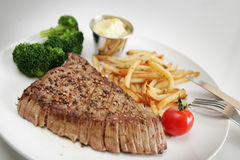 obiadowy stek zdjęcia stock