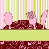obiadowy zaproszenia menu przyjęcie Obraz Stock