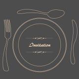 obiadowy zaproszenie Obrazy Royalty Free