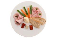 obiadowy zdrowy talerz Obrazy Stock