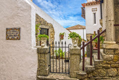 obidos葡萄牙 美术画廊,房子 库存图片
