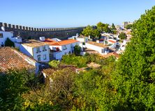 Obidos,在葡萄牙历史的一次旅行 免版税库存照片