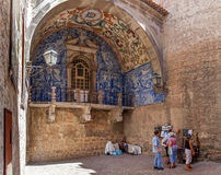 obidos Πορτογαλία Η μεσαιωνική πόλης πύλη κάλεσε Porta DA Vila Στοκ φωτογραφίες με δικαίωμα ελεύθερης χρήσης