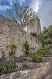 obidos Πορτογαλία Τοίχοι και πύργοι του φρουρίου Στοκ Εικόνες
