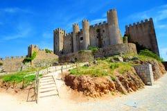 obidos замока средневековые стоковые изображения rf