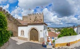 obidos Португалия Средневековый дом Mourisca Стоковое Изображение RF