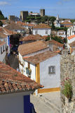Obidos. View of the medieval walled town of Obidos, Portugal Stock Images