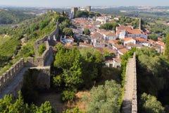 Исторический городок Obidos Стоковое Фото