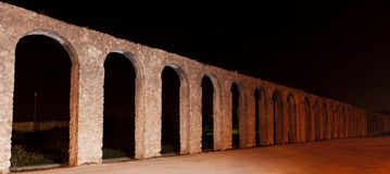 Obidos Aquaduct at Night Royalty Free Stock Photos