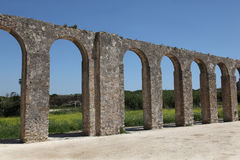 Obidos aqueduct. This 3km long aqueduct was built in the 16th century in Obidos in Extremadura Portgual Stock Photos