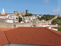 Obidos au Portugal Photos libres de droits