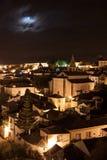 Obidos bis zum Nacht Stockfotografie