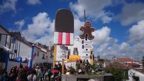 Obidos. Chocolate festival in obidos Portugal Stock Photo