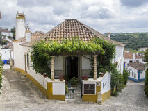 Obidos city center Stock Images
