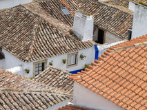 Obidos city center Royalty Free Stock Image