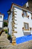Obidos Dorf Portugal Lizenzfreies Stockfoto