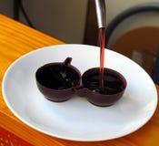 Obidos Ginja. Cherry liquor in portugal Stock Photo