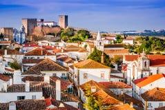 Obidos gjorde envist motstånd staden i Portugal arkivbild
