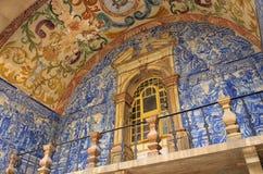 Obidos glazed tile. Obidos in Portugal, blue glazed tile Royalty Free Stock Photography