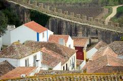 Obidos-Häuser Lizenzfreie Stockbilder