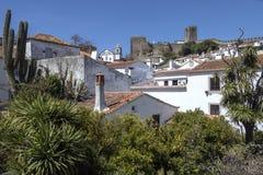 Obidos in het Oeste-gebied van Portugal Stock Fotografie