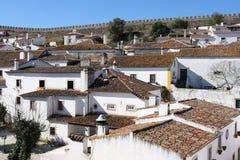 Obidos innerhalb der Schlosswand Stockbilder
