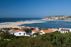 Obidos lagoon. The lagoon of Obidos in the Portugal Royalty Free Stock Image