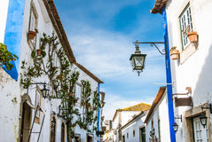 Obidos landmark, old medieval city Royalty Free Stock Images