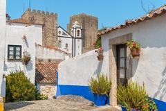 Obidos miasteczko Portugalia Fotografia Stock