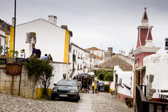 Obidos Portugal Stockbild