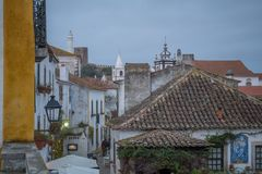 Alley in the old town, Obidos Stock Photos