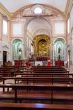 Obidos, Portugal Innenraum der barocken Sao-Pedro-Kirche Lizenzfreie Stockbilder