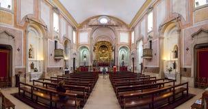 Obidos, Portugal. Interior of the baroque Sao Pedro church. Stock Photo