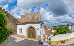 Obidos, Portugal. The medieval Mourisca House Royalty Free Stock Image