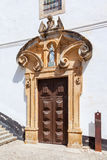 Obidos, Portugal. Portal of the Misericordia Church Royalty Free Stock Images