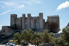 Castle of Obidos stock images