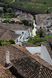 Obidos rooftop view Royalty Free Stock Images
