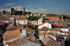 Obidos Town in Portugal Stock Photo