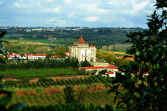 Obidos. View from Old medieval village in Portugal - Obidos Stock Image