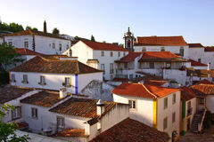 Obidos village. View of the beautiful medieval village of Obidos in the center of Portugal Royalty Free Stock Image