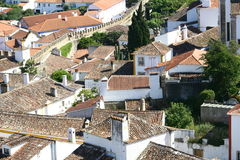 Obidos village panorama Stock Photography